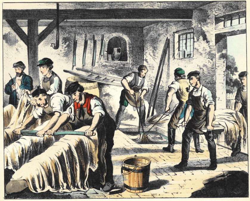 Generic view of a 19th-century tannery