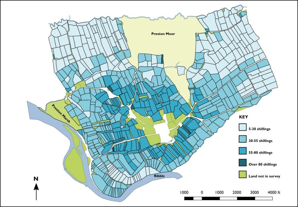 Plan of Lang properties showing land values