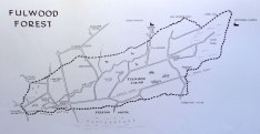 Sketch map of Fulwood Forest Preston Lancashire