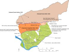 Map of Fulwood Foreston and the Preston 'purpresture'