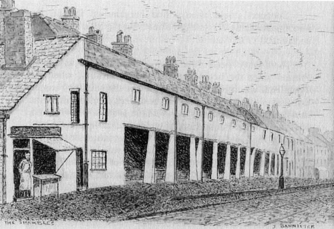 Drawing of the Preston Shambles