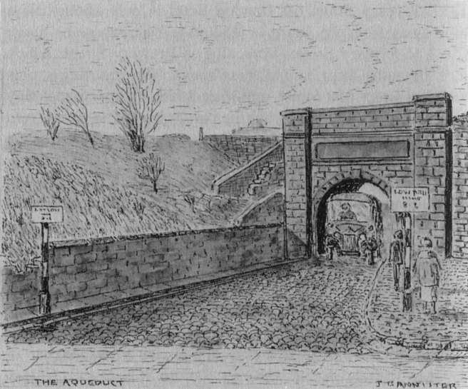 Drawing of aqueduct in Preston