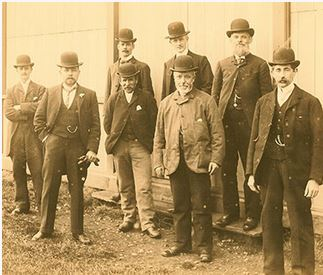 19th-century canvassers for the Prudential Insurance Company