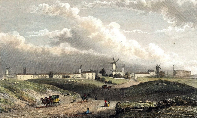 Westall's engraving 'Preston from the North' 1828