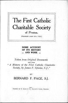 The title page of Fr. Page's book