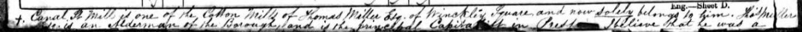 Section of Preston census return