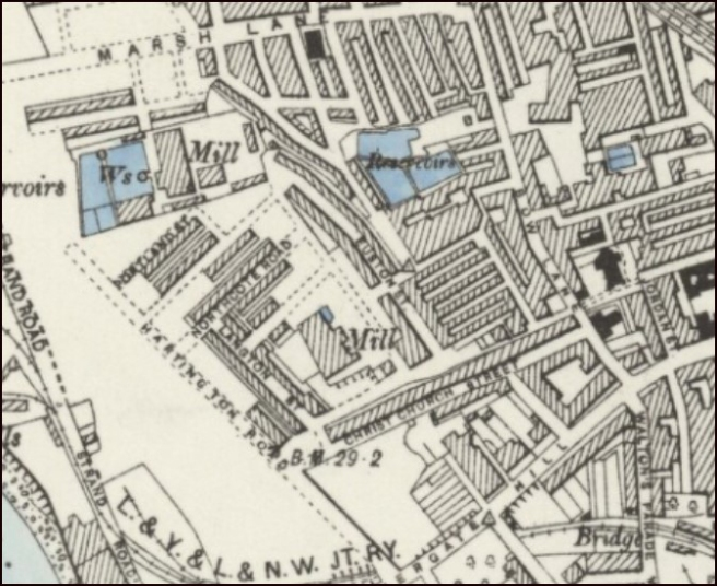 Plan of Stand Prick fields area in 1890s Preston