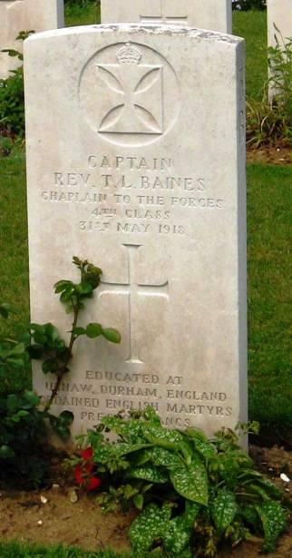 Gravestone of Fr Tom Baines