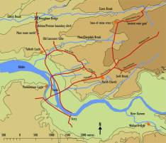 Map of Domesday Preston