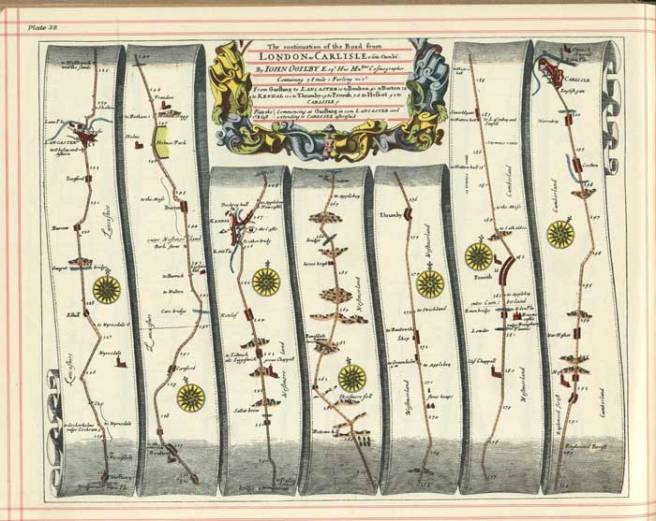 Plate 38 of Ogilby's strip plans of England