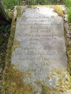 The grave of Septimus Tebay in Rivington cemetery