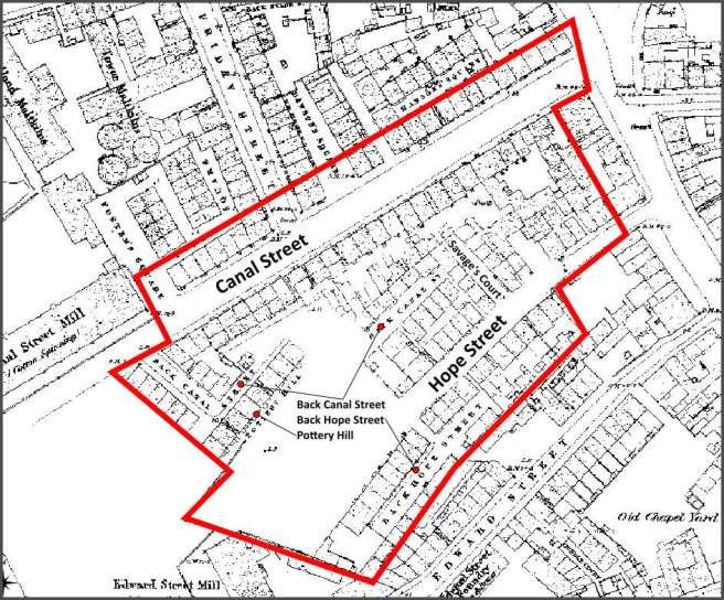 An 'Irish' district in Preston, Lancashire in 1851