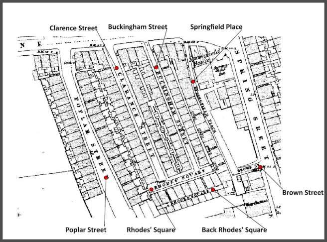 Marsh Lane Irish district of Preston, Lancashire 1851