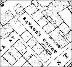 Plan of Savage's Court in Victorian Preston, Lancashire