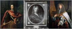 Portraits of King William III, Col Thomas Bellingham and King James II