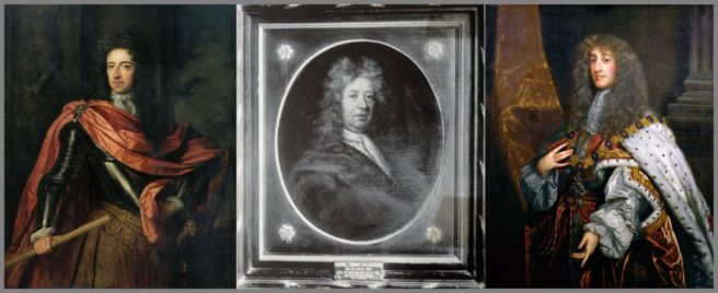 Portraits of King William III, Col Thomas Bellingham and King James II