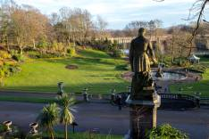 Earl of Derby statue in Miller park Preston Lancashire UK