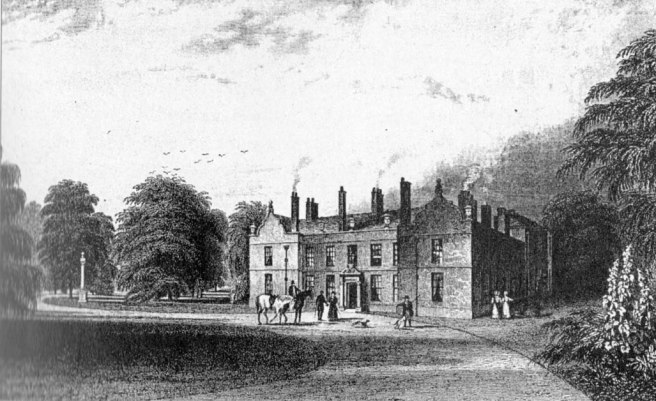 Walton Hall Walton-le-Dale Lancashire UK in about 1820