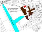 Lancaster Canal and Maudland district of Preston Lancashire UK on Ordnance Survey map of 1840s