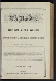 Title page of The Builder magazine compendium for 1861