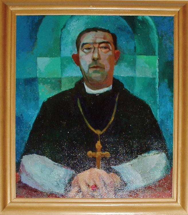 Portrait of Abbot John Gerard Eaves, O.S.B., 1909-1975 (also known as Abbot Oswald Eaves, O.S.B.)