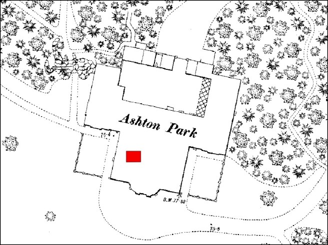 Ground plan of Ashton Park, the Preston home of Edward Pedder in the 19th century