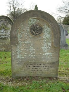 Gravestone of Ellen Moulding and her family