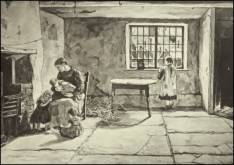 Illustration of working-class house interior from volume 2 of Edwin Waugh's Collected Works